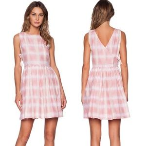 Marc by Marc Jacobs Blurred Gingham Pink Dress